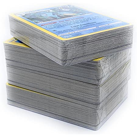 Pok Lot de 50 Cartes francaises sans Doubles + 3 Cartes Brillantes Cadeau !