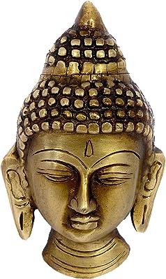 Vyomika Decor Brass Budhha Face Wall Hanging(Multicolour_11.5cm X 6.5cm)|