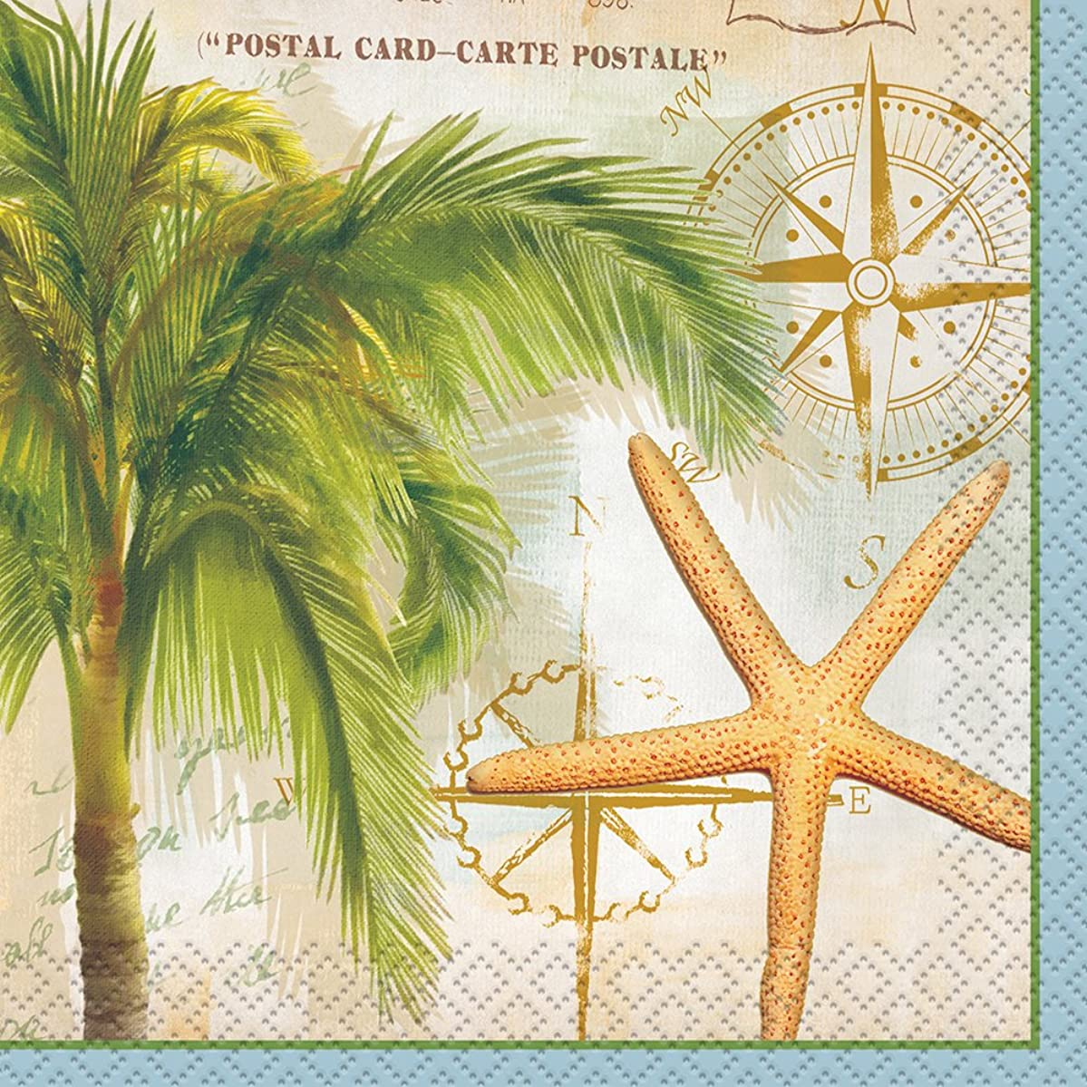 Tropical Travel Summer Cocktail Napkins, 24ct