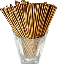 Royer 6 Inch Round Top Swizzle Sticks, Set of 48, Gold - Made In USA