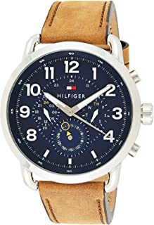 Tommy Hilfiger Men's Blue Leather Casual Watch - 1791424