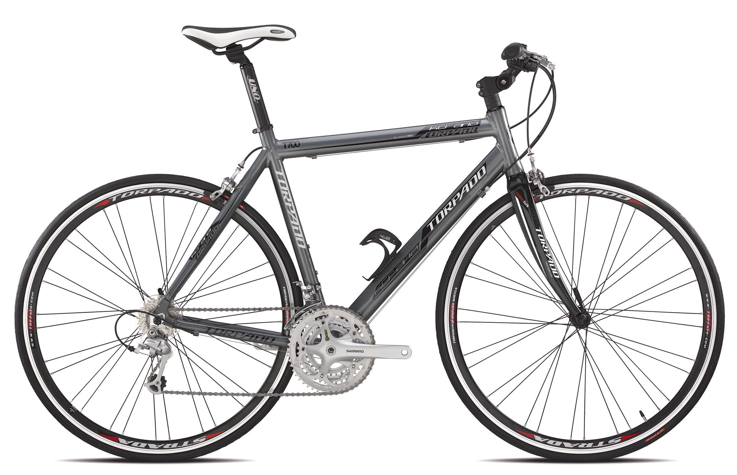 Torpado bicicleta de carretera kcs aire 3 x 9 V flat alu carbon 51 ...