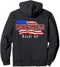 Ironworkers Local 40 NYC American Flag Patriotic  Pullover Hoodie