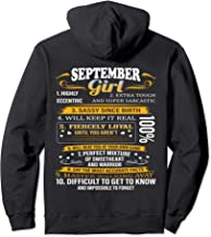 Womans Girl Born in September Fact Gift Pullover Hoodie