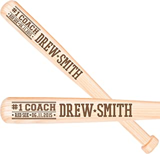 LifeSong Milestones Personalized baseball coachs gift Custom engraved baseball bat with # 1 Coach The perfect thank you sports award gift