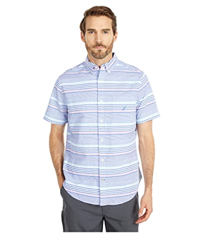 Nautica Casual Seersucker Top (Blue) Men