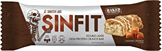 SINFIT Double Layer High Protein Crunch Bar by Sinister Labs - 30 g protein! Gluten-free - (2.93 oz bars) (Caramel Crunch, 12-Pack)