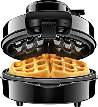 Chefman Belgian Maker, Patented No Overflow Perfect Pour Volcano Iron for Mess & Stress Waffles, Best Small Appliance Innovation Award Winner-FREE Measuring Cup & Pour Spout, Personal Size