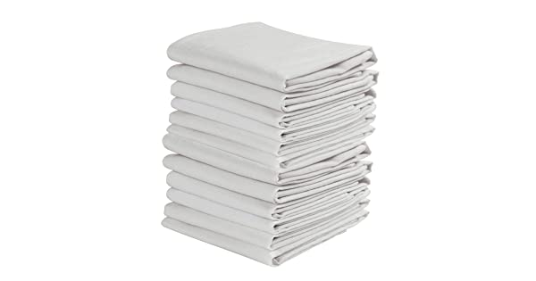 Kaf Home Set Of 12 White Wrinkled Flour Sack Kitchen Chef Towels 100 Percent Cotton Absorbent Extra Soft 20 X 30 Inches Amazon Sg Home