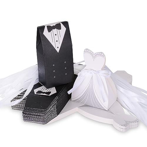 Wolfteeth 200 pz scatolina Scatola Regalo portaconfetti Confetti bomboniera  segnaposto Matrimonio Decorazioni Anniversario -100 Pezzi 9d4312e1679
