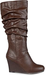 Brinley Co Women's Star Slouch Boot Regular & Wide Calf