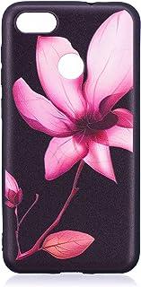 Felfy Kompatibel med fodral Huawei P9 Lite mini silikon ultratunn svart slank mobiltelefonfodral med blommönster repfri mj...