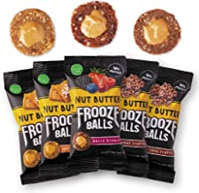 Frooze Balls Peanut Butter Filled Energy Balls, Variety Pack Gift Box (Pack of 5) Each Pack Has 5 Balls!