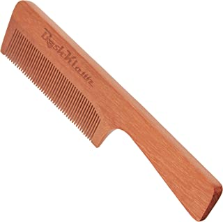 ManKlawz Men's Comb Fine Teeth Wooden Hair Comb Detailer for Fine Hair Parts and Styling - Best Handle Hair Comb for Men with Big Manly Hands
