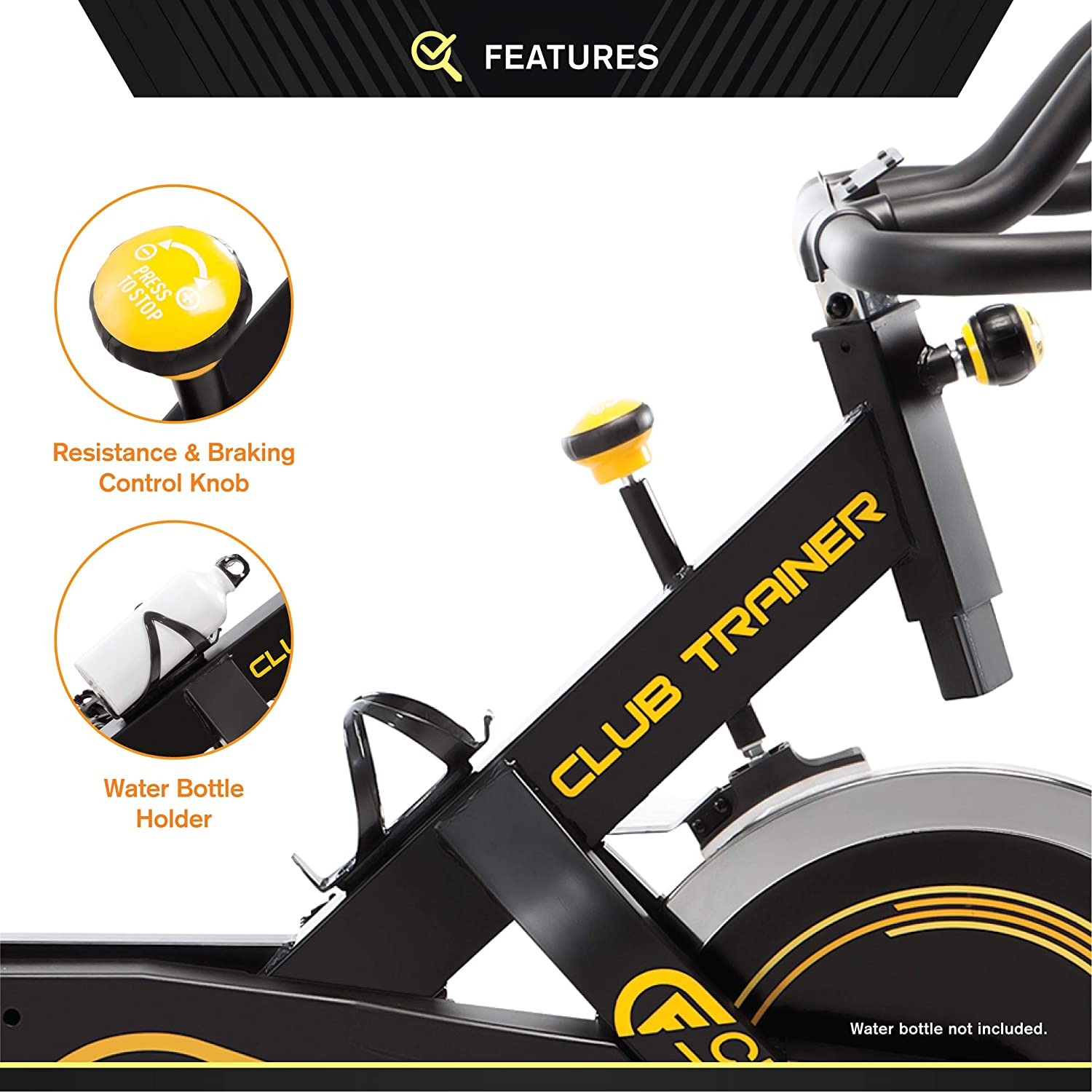 Circuit Fitness 18,1 LB Flywheel Deluxe Club Revolution Cardio Cycle Homme