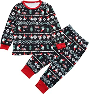 Baby Kids Family Matching Print Pajamas Set Sleepwear Clothes Set