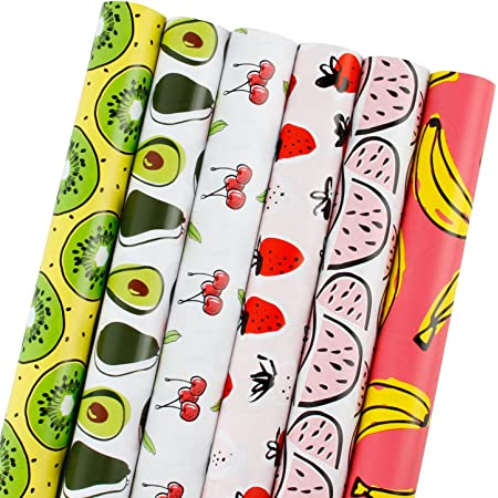 LaRibbons Multicolor Modern Stripe Gift Wrap Bundle