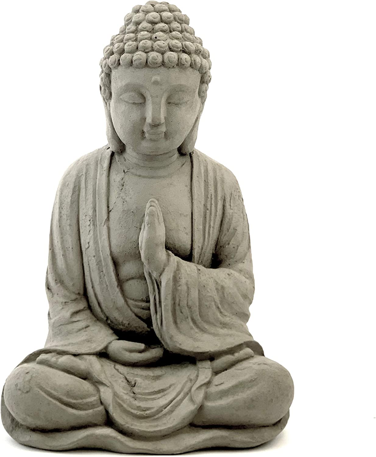 Blessing favorite Buddha Statue: Alternative dealer Solid Stone. Weathere Distressed Durable