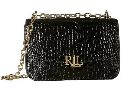 LAUREN Ralph Lauren Elmswood Madison 22 Crossbody (Black 2) Handbags