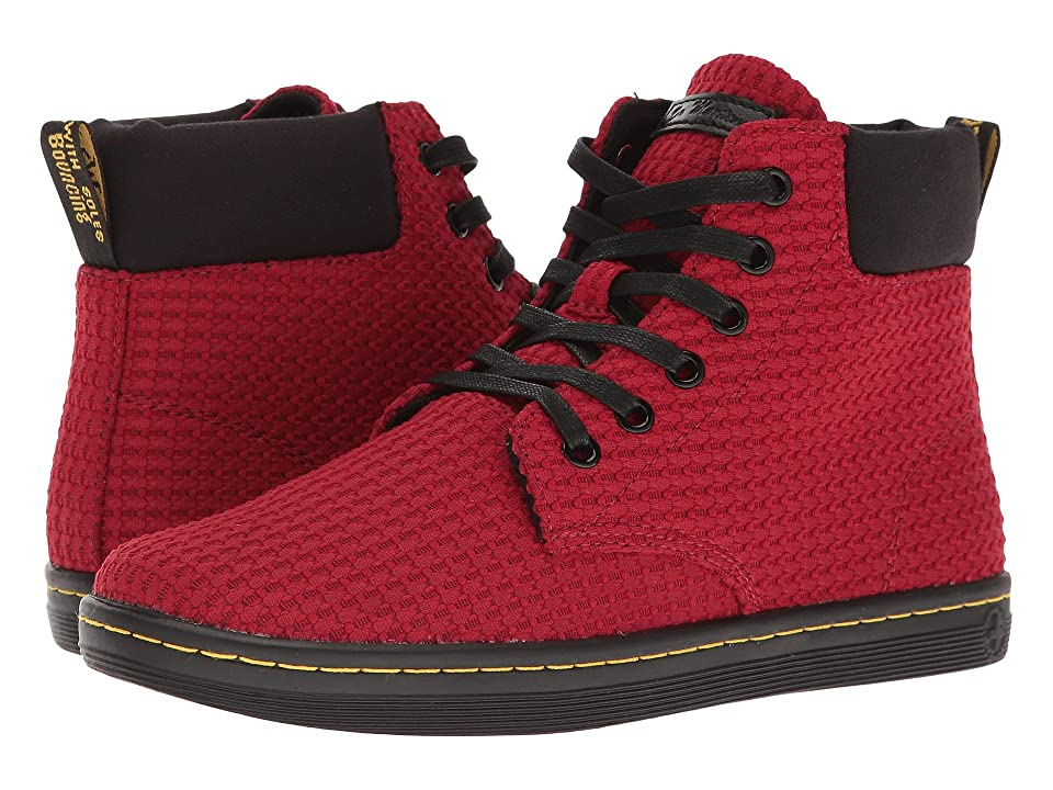 Dr. Martens Maelly WC (Dark Red/Black Waffle Cotton/Fine Canvas) Women