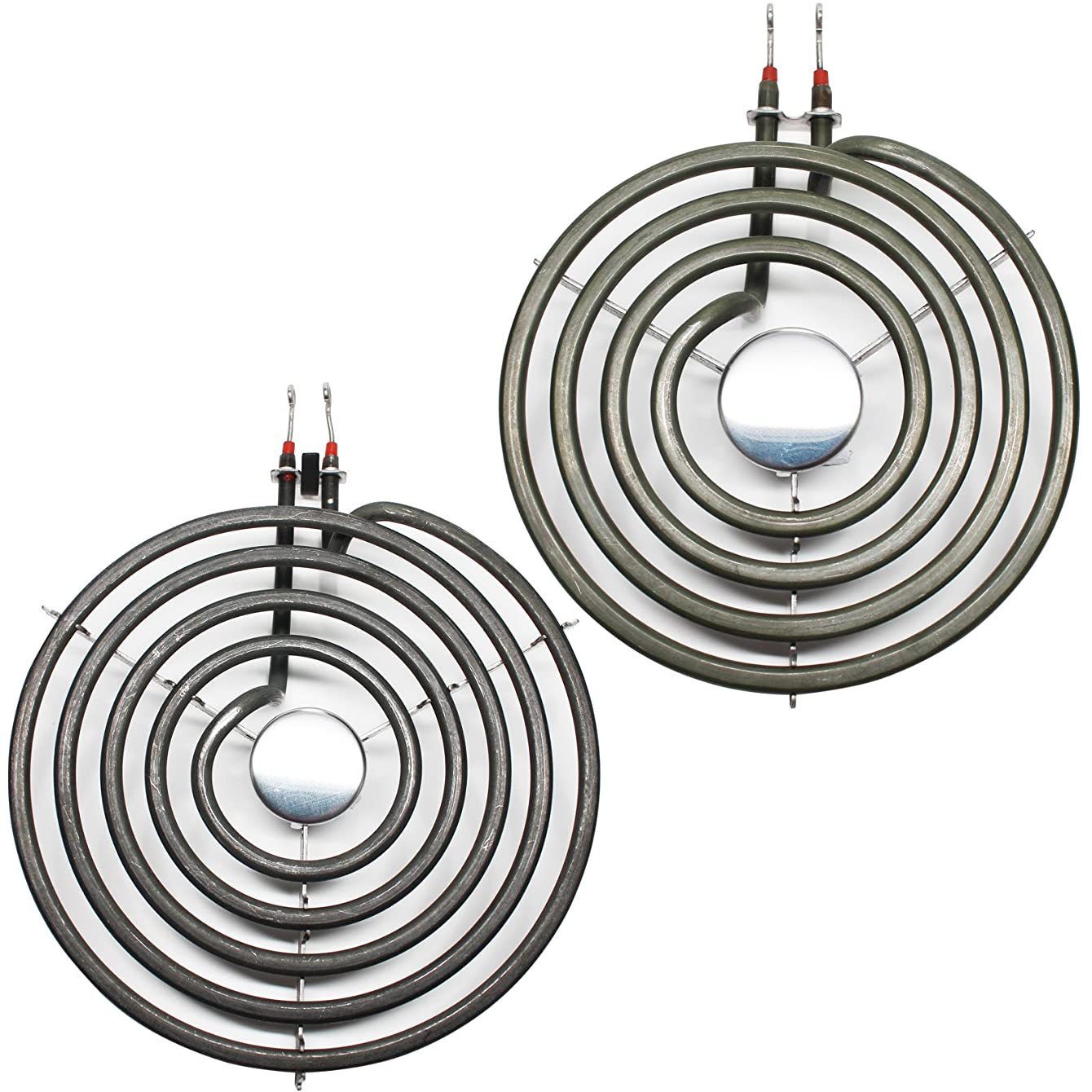 Replacement Whirlpool RF367LXKQ0 8 inch 5 Turns & 6 inch 4 Turns Surface Burner Elements - Compatible Whirlpool 9761345 & 660532 Heating Element for Range, Stove & Cooktop