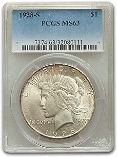 1928 S Peace Dollar MS-63 PCGS $1 MS-63 PCGS