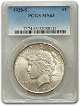 1928 peace dollar ms63
