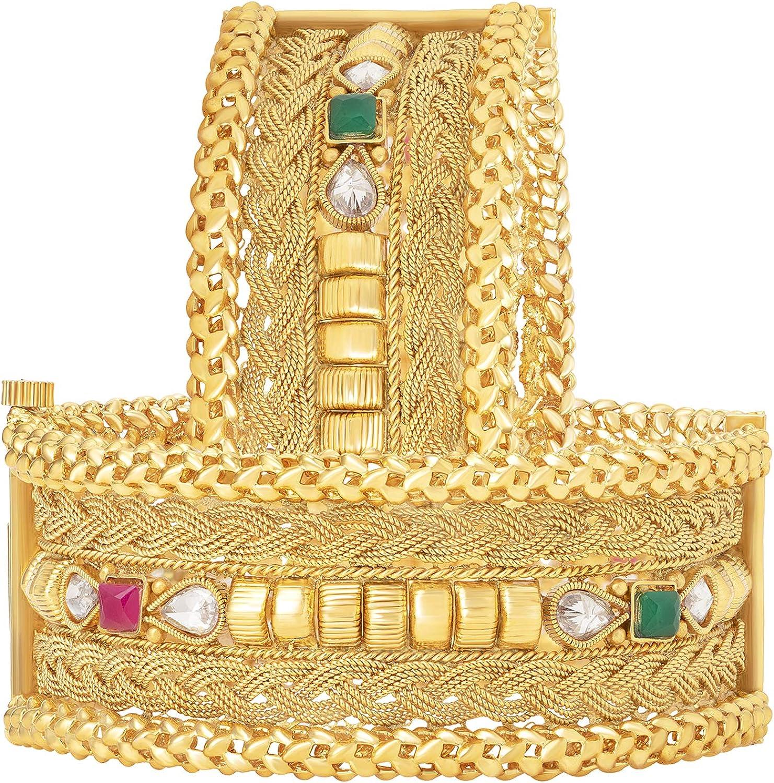 メイルオーダー Aheli Wedding 安全 Designer Set of 2 Bracelet Pair Ethnic Kada Bangle