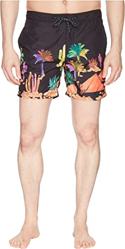 Swim Shorts with Colorful All Over Print