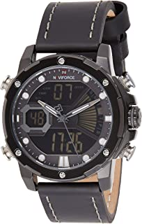 Naviforce Men's Black Dial Genuine Leather Analogue Classic Watch - NF9172L-BGYB