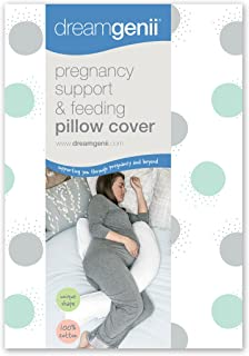 Dreamgenii Pregnancy Support and Feeding Pillow Cover Pillow Case Only (Grey/Aqua)