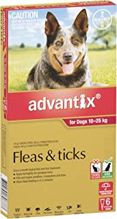 Advantix Flea and Ticks Control for Large Dogs, Red, 6 Pack