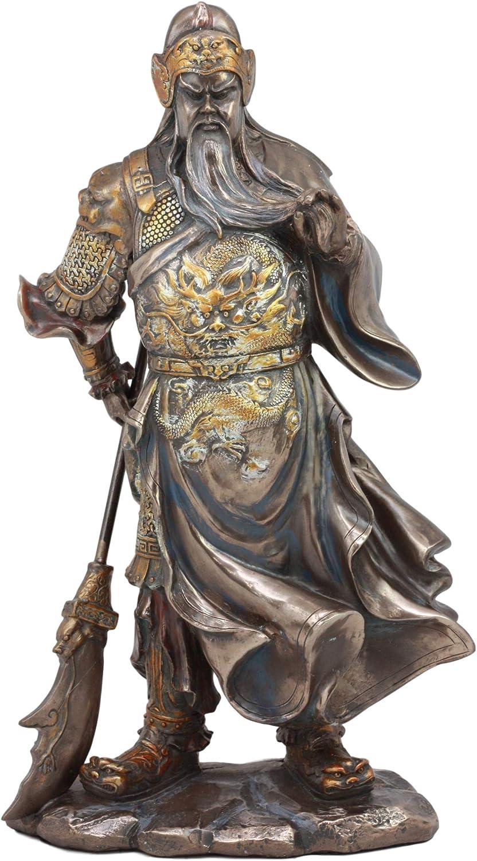 Ebros Romance of The Three Kingdoms General Hero Guan Gong Guan Yu Holding Crescent Blade Guandao Statue Guanyu Figurine Eastern Culture Decor