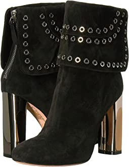 Sculpted Heel Eyelet Ankle Boot