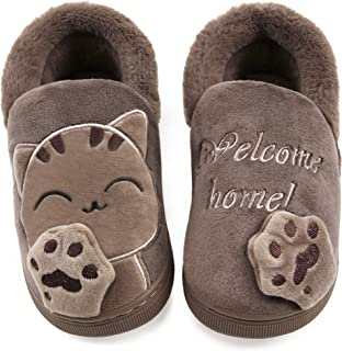 Vunavueya Pantofole per Unisex - Bambini e Adulto Ragazze Inverno Pantofole Scarpe Ragazzi Ciabatte Chiuse Donna Uomo Cald...