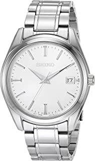 Men's Essentials Japanese Quartz With Stainless Steel Strap, Silver (Model: SUR307)