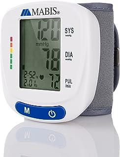 Blood Pressure Monitor Wrist Cuff - MABIS Digital Portable Wireless Blood Pressure Gauge Kit Monitors for Pulse, Irregular Heartbeat, and High & Low Blood Pressure