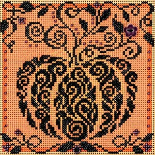 Mill Hill Enchanted Pumpkin Beaded Counted Cross Stitch Kit 2018 Buttons & Beads Autumn MH141821