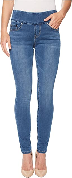 Nora Skinny Pull-On Jeans in Knit Denim Vintage Classic