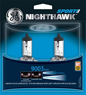 GE Lighting 9003 NHS/BP2 Nighthawk Sport Replacement Bulbs, 2-Pack