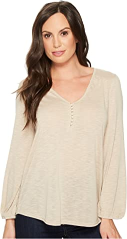 Roper - 1414 Poly Jersey V-Neck Blouse