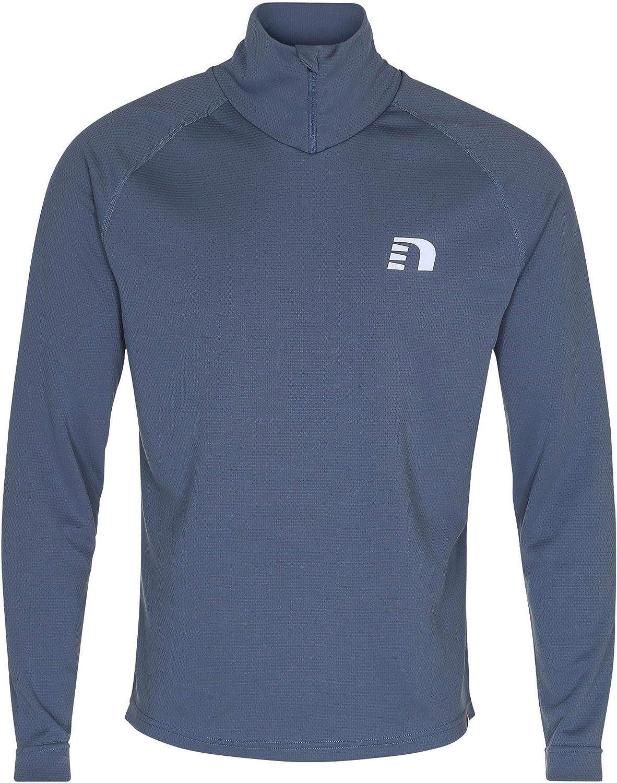 Newline Herren Laufshirt Imotion 1 2 Zip Warm Shirt Langarm blau (296) L