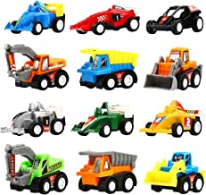 Yeonha Toys Pull Back Vehicles, 12 Pack Mini Assorted Construction Vehicles & Race Car Toy, Vehicles Truck Mini Car Toy fo...