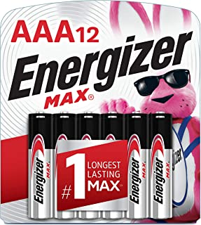 Energizer AAA Batteries (12 Count), Triple A Max Alkaline Battery