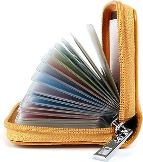 Porta Carte di Credito Pelle per Donna Uomo (Giallo)