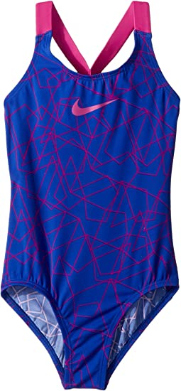 Nike Kids Nova Flare Prism Crossback One-Piece (Little Kids/Big Kids)