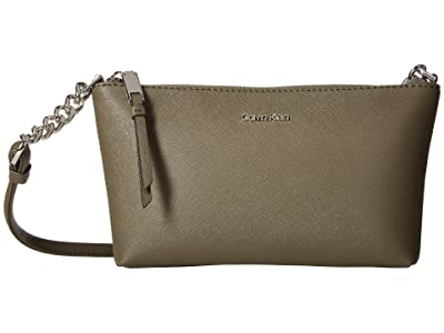 Calvin Klein Hayden Saffiano Key Item Crossbody (Camouflage) Cross Body Handbags