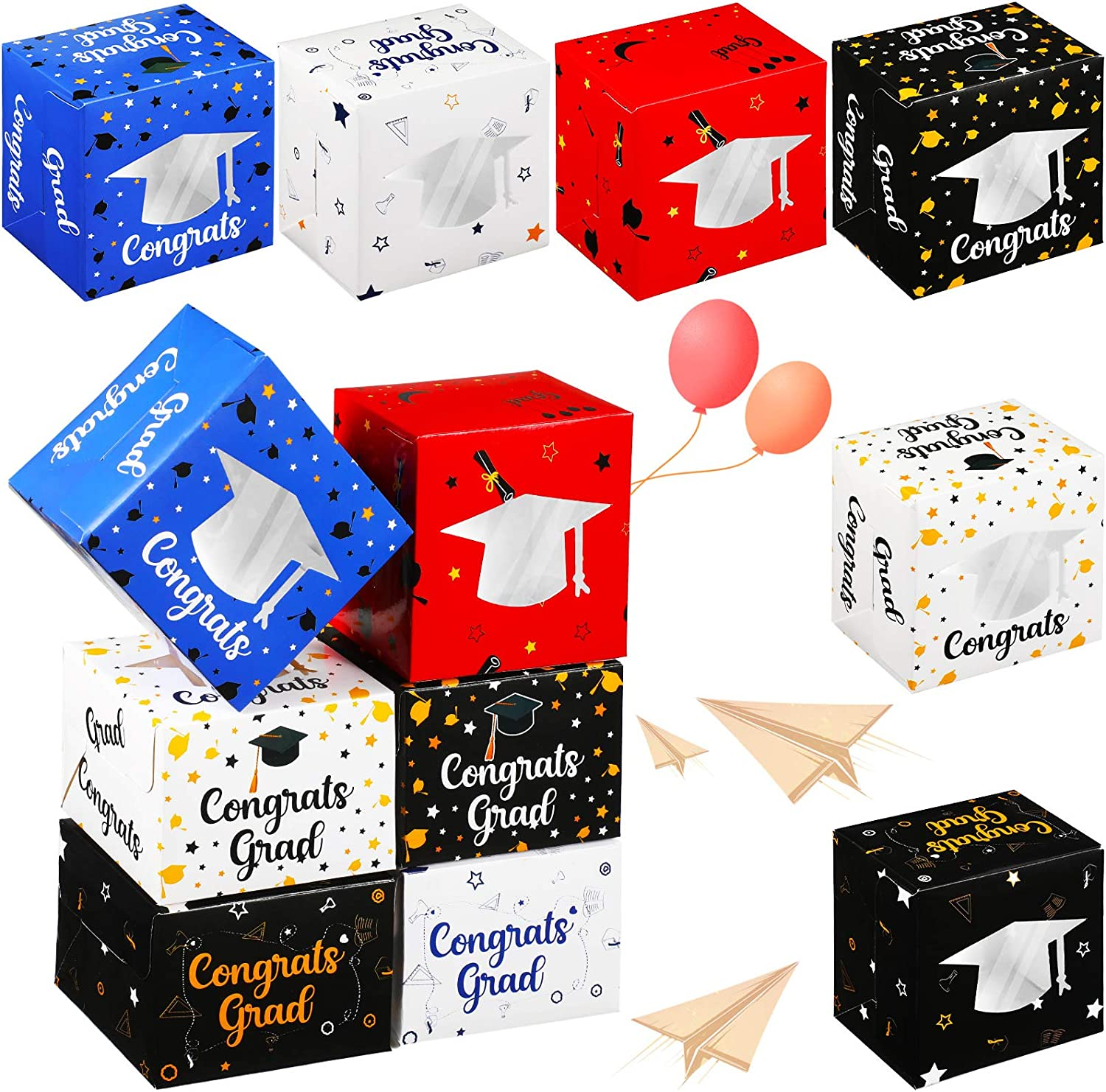 Brand Cheap Sale Venue 24 Pieces 2021 Graduation Wrapping Max 62% OFF Boxes Cupcake Box