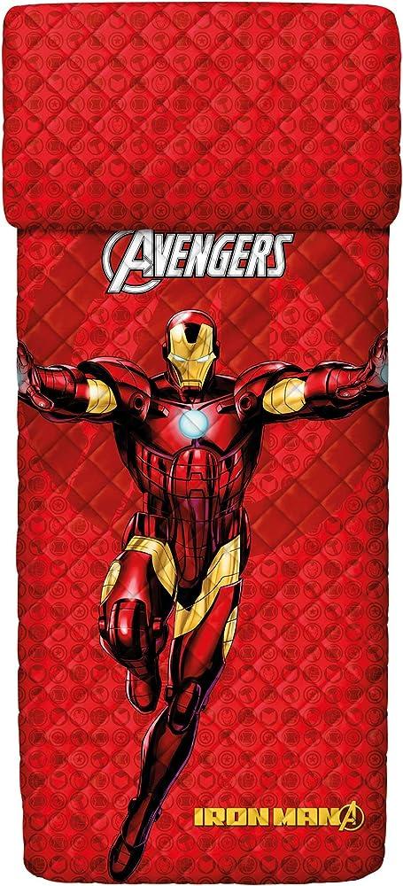 Bassetti,copriletto trapuntato iron man, per letto singolo, 100% cotone 9286357