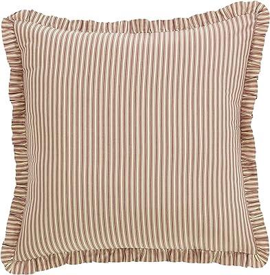 White Farmhouse Bedding Vintage Stripe Euro Sham Cotton Striped